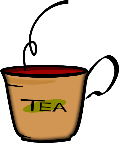Black tea clipart.