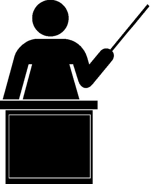 Teacher Clipart Black And White.