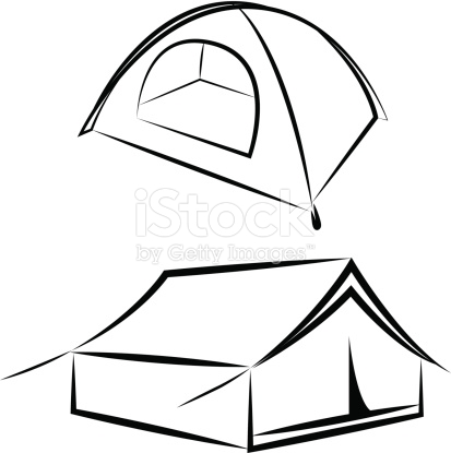 Vector Drawing Of The Tent stock vector art 452235495.