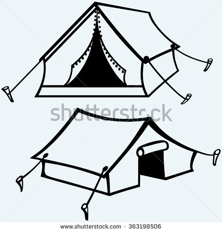 Tent Silhouette Stock Photos, Royalty.