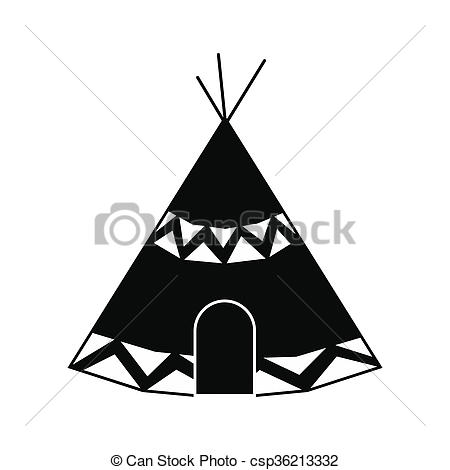 Drawings of Indian tent icon.