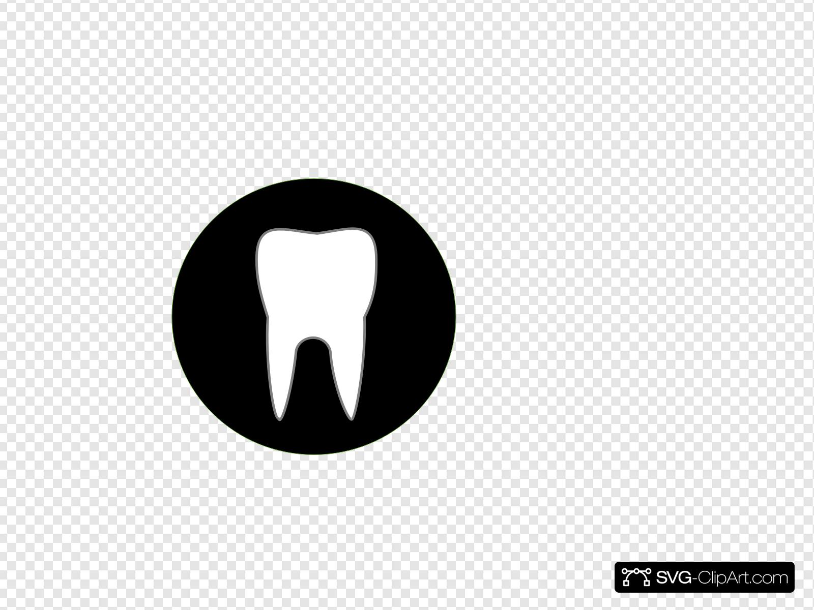 Black Tooth Clip art, Icon and SVG.