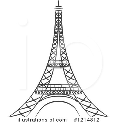 Tower clipart black and white.
