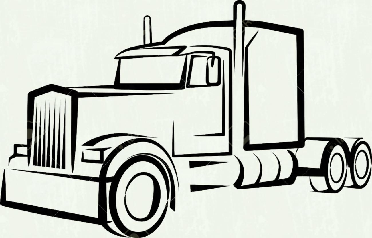 Truck Clipart Illustration By Dennis Holmes Designs.