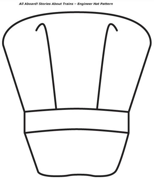 Train Conductor Hat Template free image.