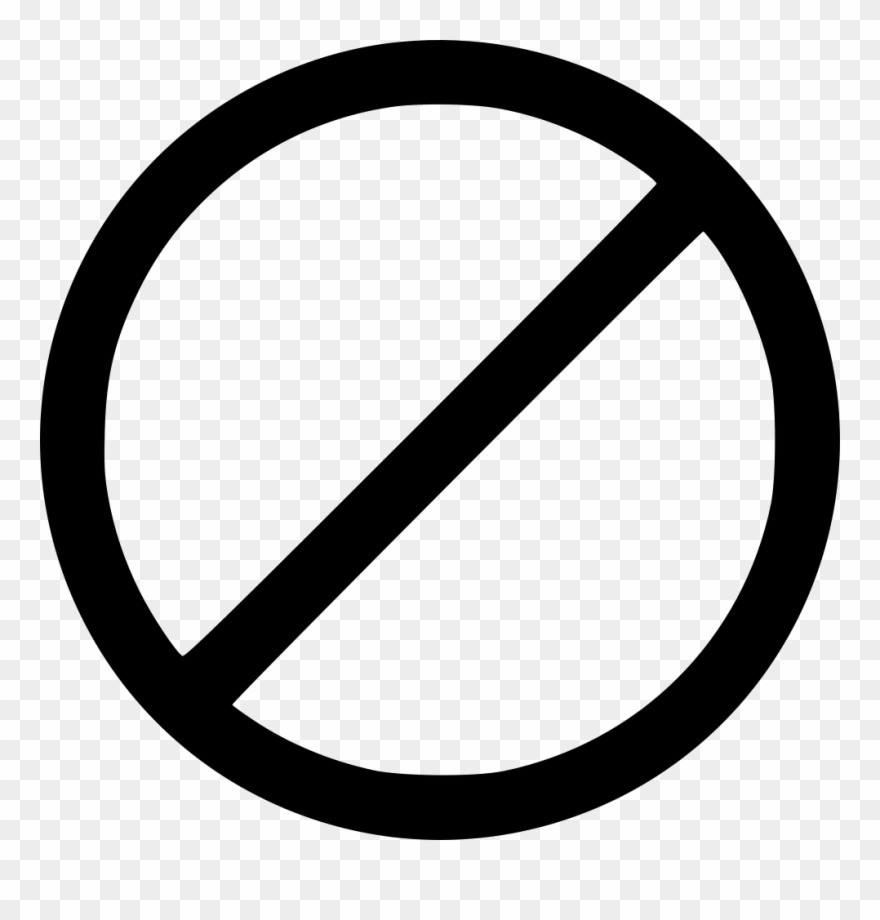 No Symbol Black Transparent Clipart (#2067059).