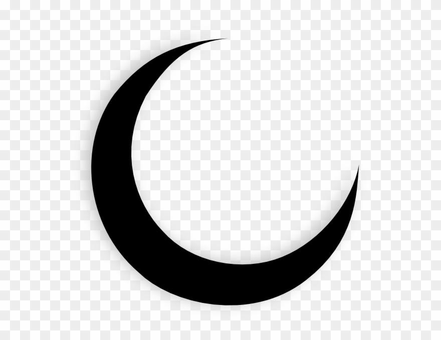Transparent Crescent Moon Black Clip.