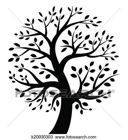 Black Tree icon Clipart.