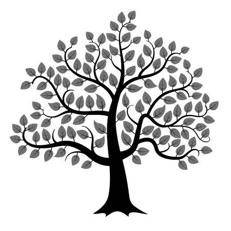 76,212 Black And White Tree Stock Vector Illustration And Royalty.