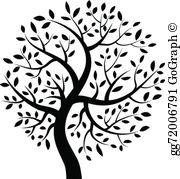 Black Tree Clip Art.