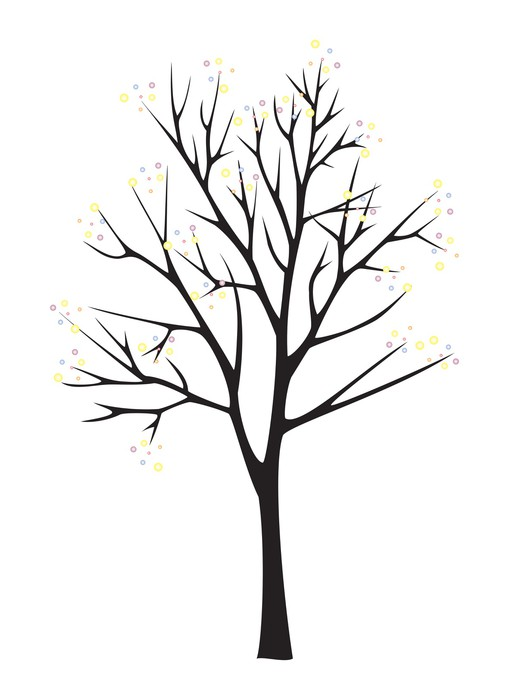 Black tree silhouette on white background » Clipart Station.