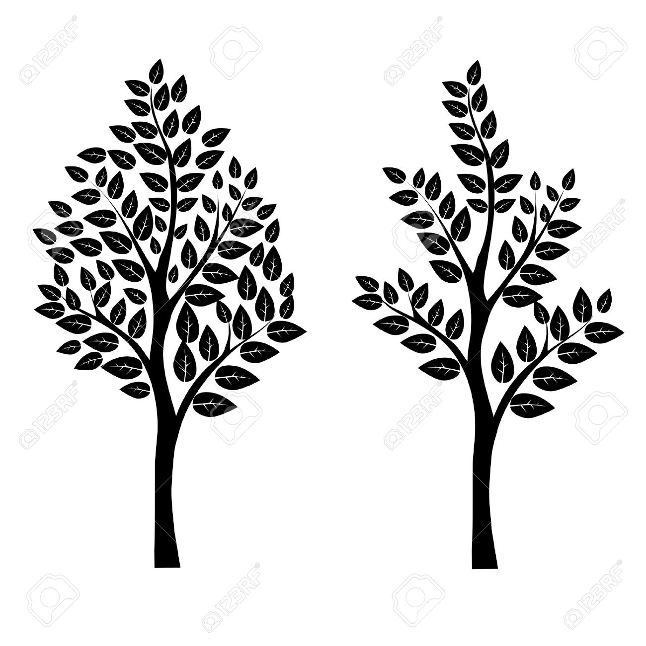 Black tree vector art eps 10.