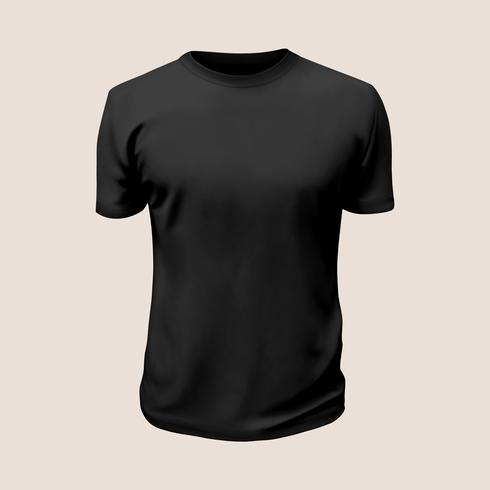 Tshirt Vector: Black Shirt.