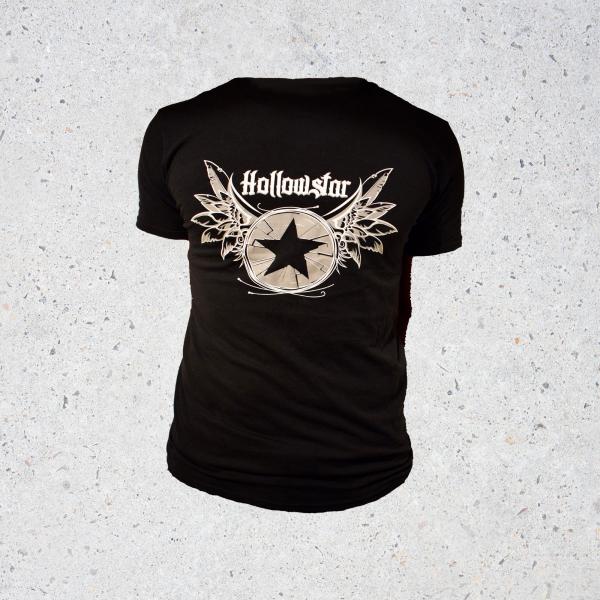 Black Hollowstar Full Logo 2 Print T.
