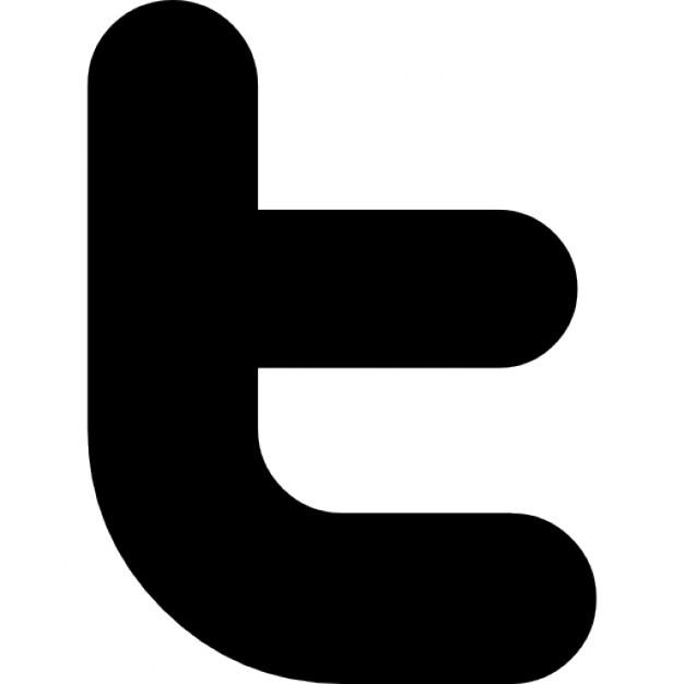 Twitter letter logo Icons.
