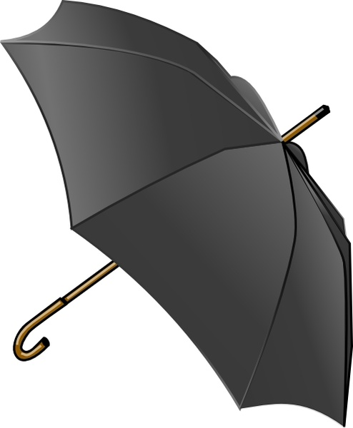 Black Umbrella clip art Free vector in Open office drawing.