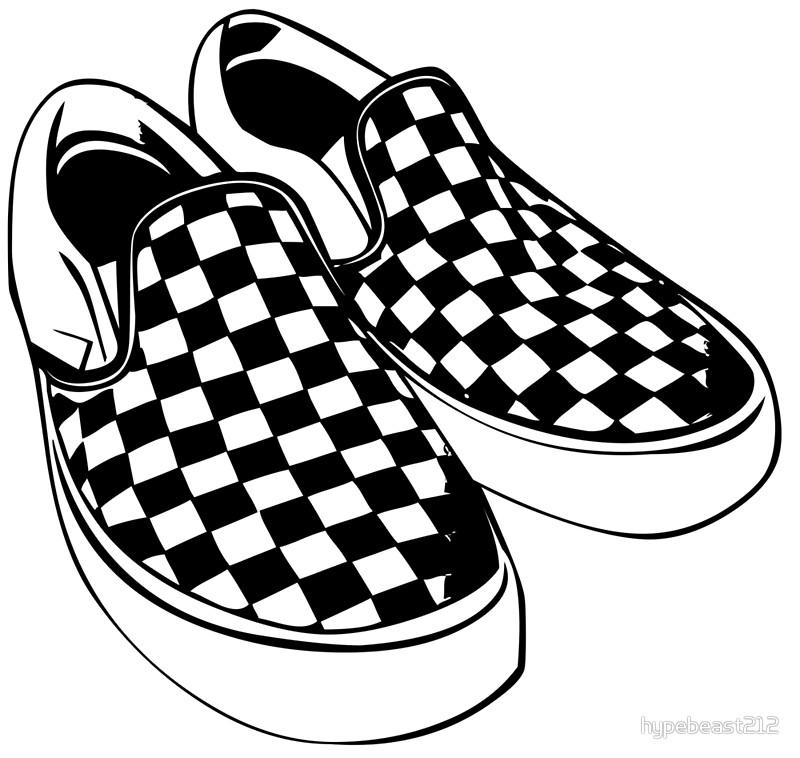 Vans Shoes Clipart.