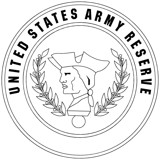 Army Reserve Seal Black And White Magnet.