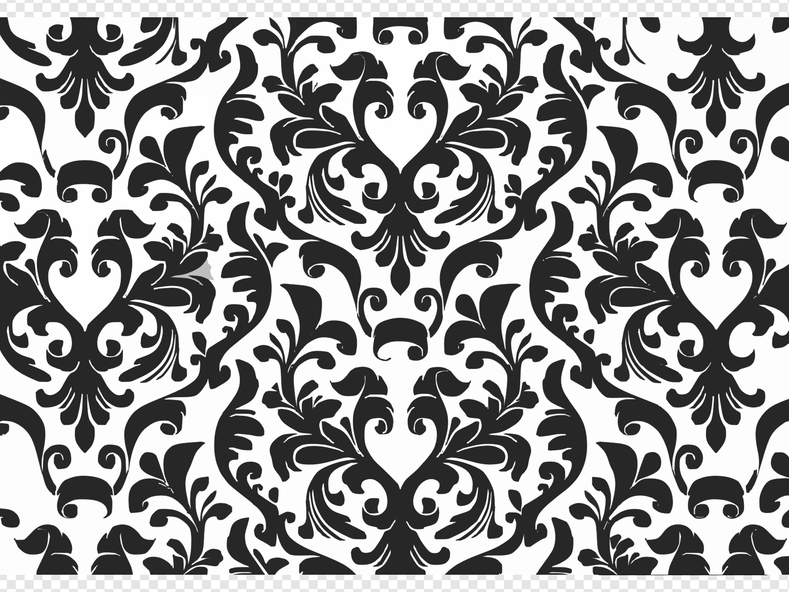 Damask Black And White Wallpaper Clip art, Icon and SVG.