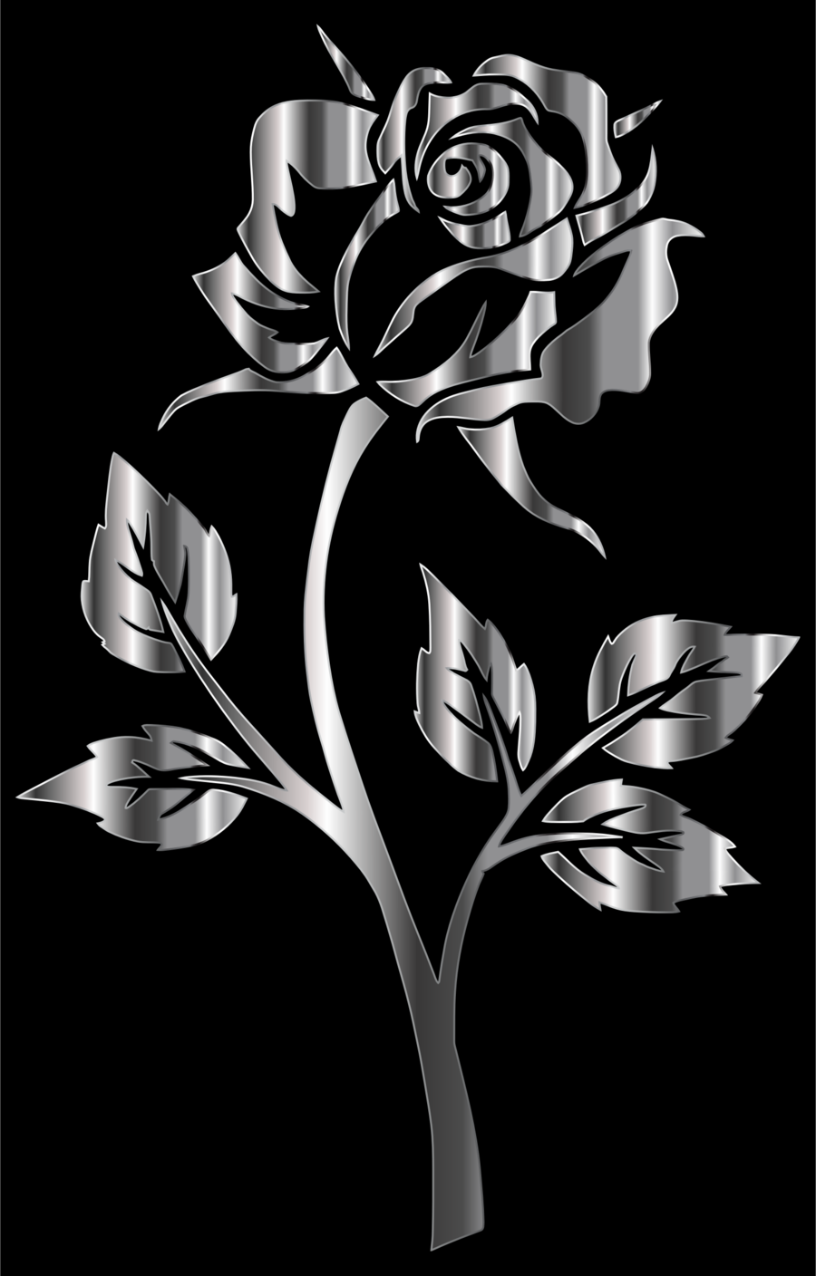 Black And White Flower clipart.