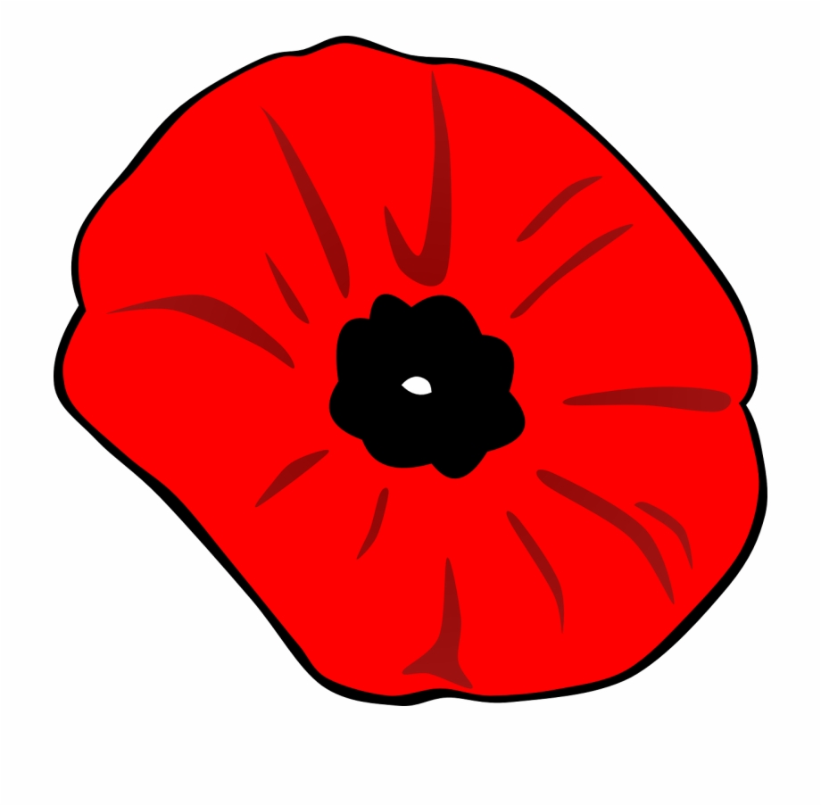 Banner Black And White Library Poppy Clipart Remembrance.