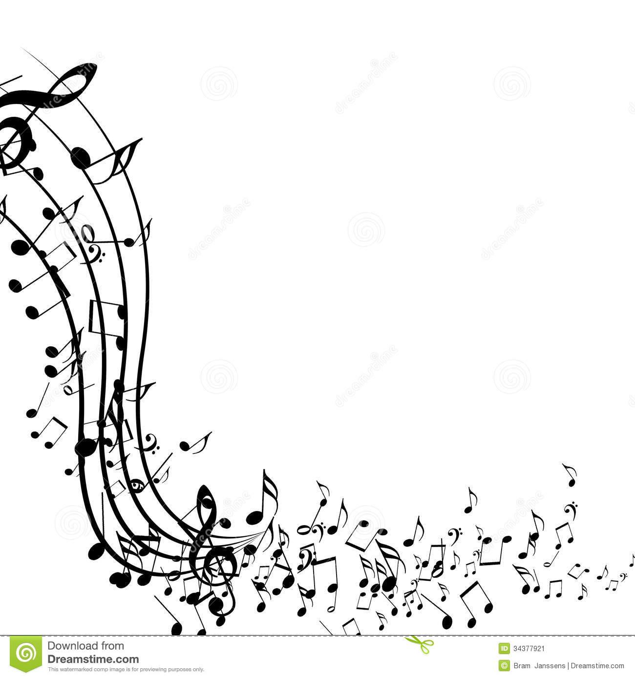 Music wallpaper black and white.