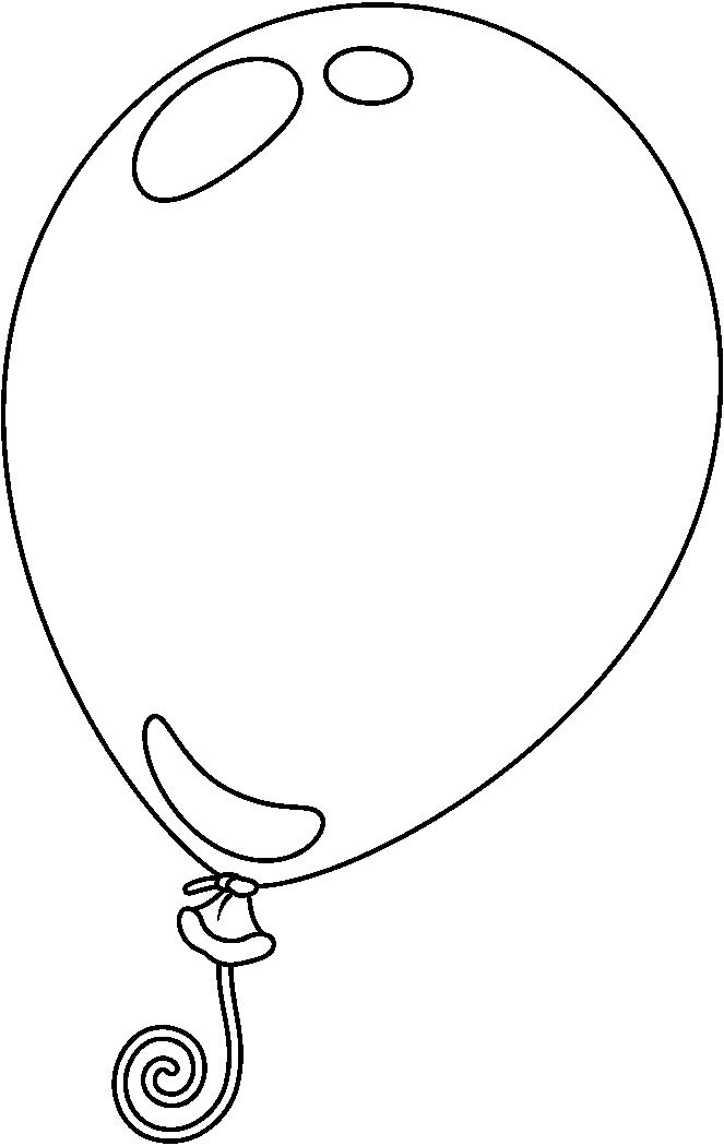 Balloon Black And White Clipart Balloon Clipart Black And.