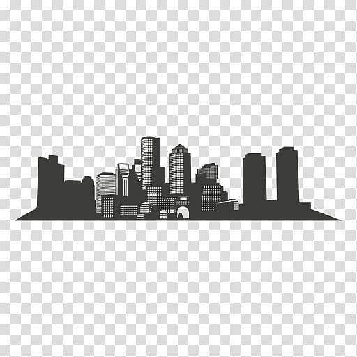 Boston Silhouette Skyline , city silhouette transparent.