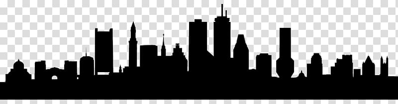 Boston Skyline , Silhouette transparent background PNG.