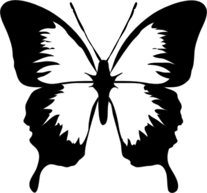 Black And White Butterfly Clip Art at Clker.com.
