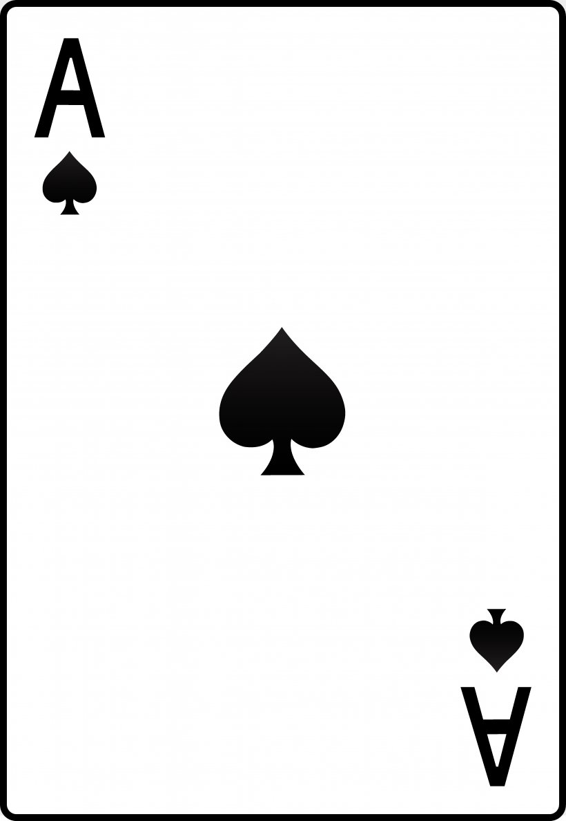 Ace Of Spades Playing Card Ace Of Hearts Clip Art, PNG.