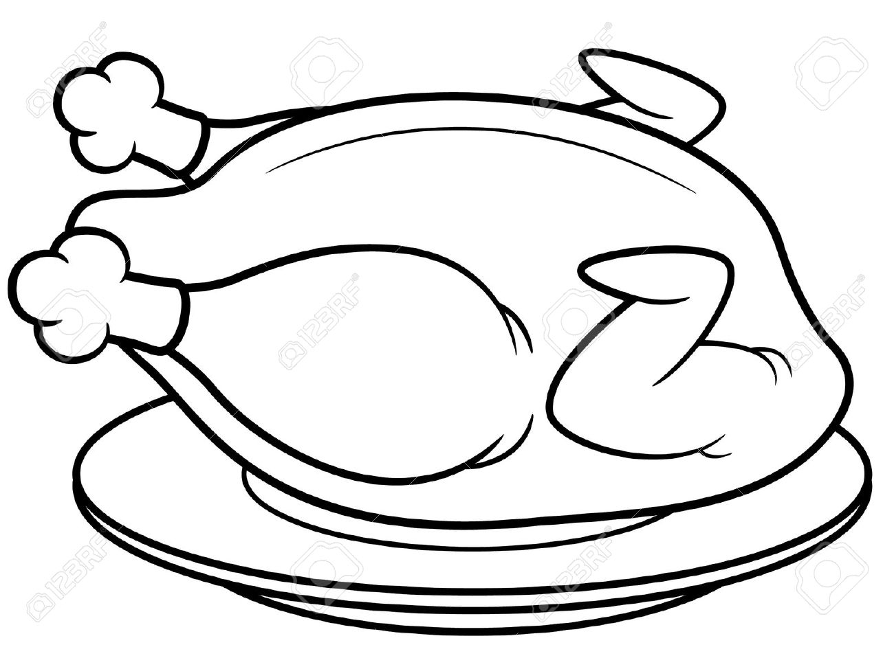 10060 Chicken free clipart.
