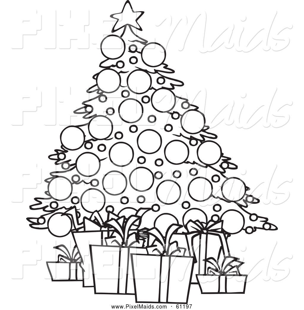 Free Black & White Christmas Clip Art Images.