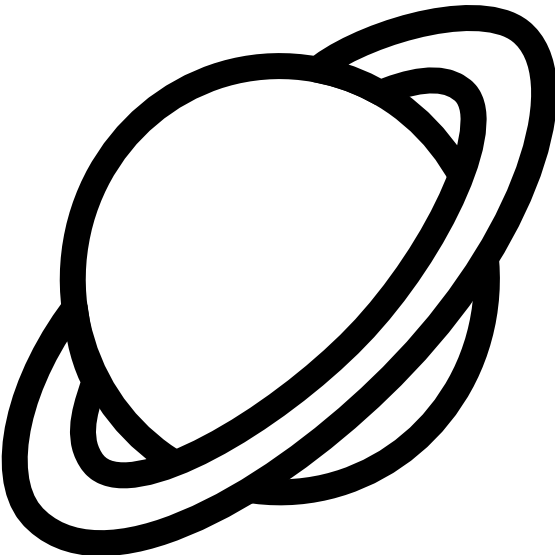 Planet Black And White Clipart.