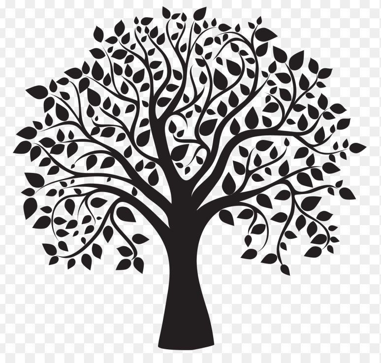 Tree Clipart Black and White (1000+ Exclusive).