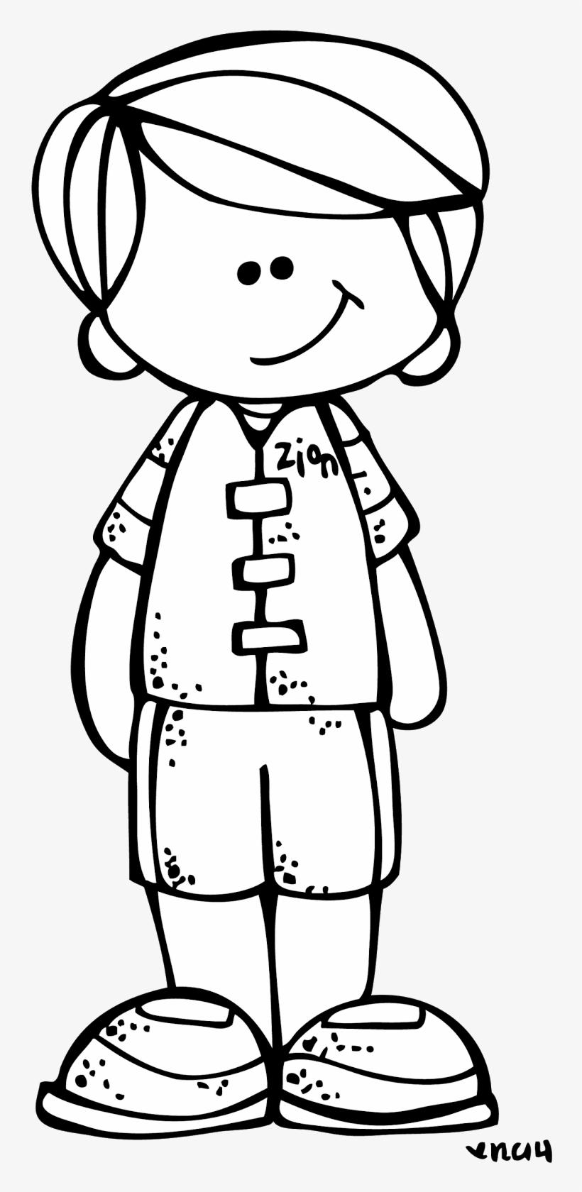 Boy Black And White Clip Art.