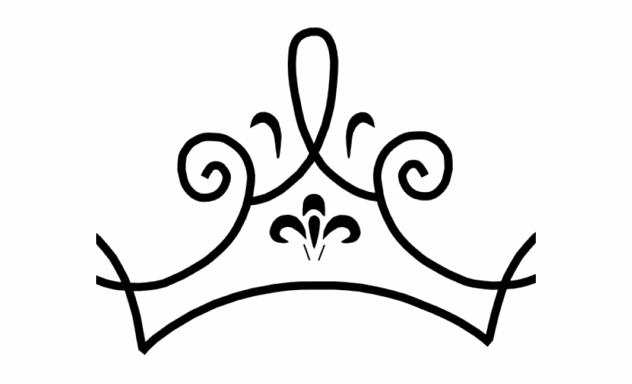 Princess Crown Clipart Black And White.