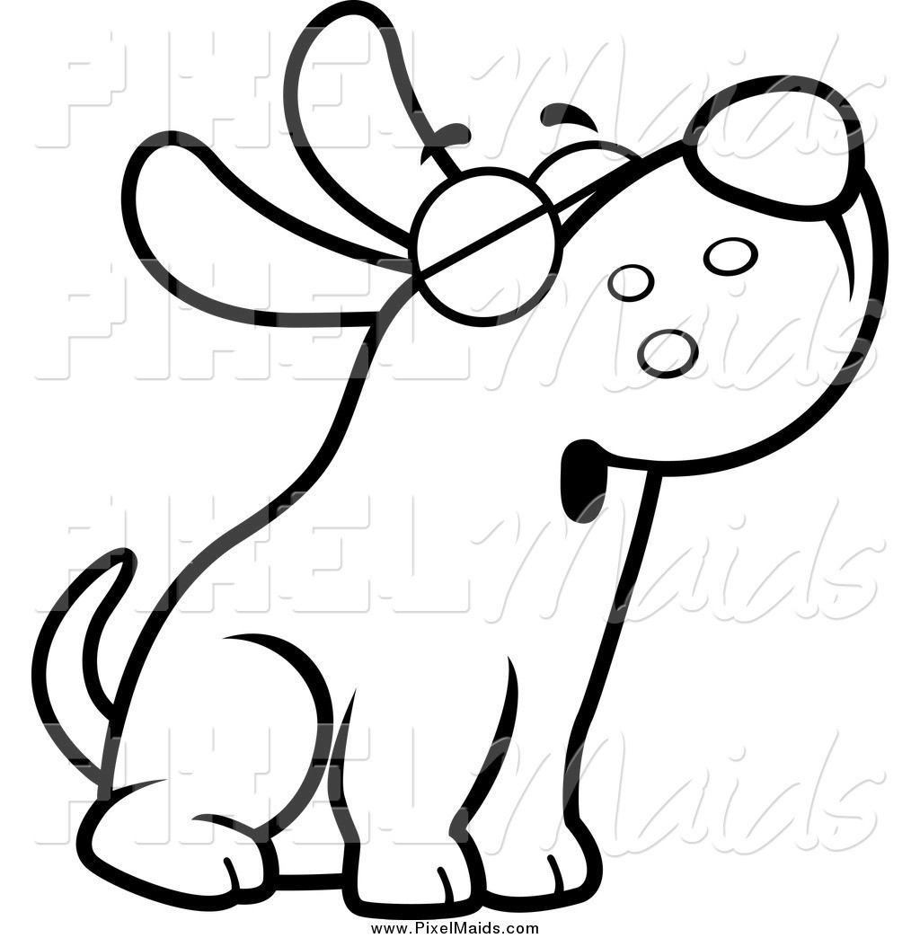 Black And White Dog Drawing Clipart Clip Art Images 7.
