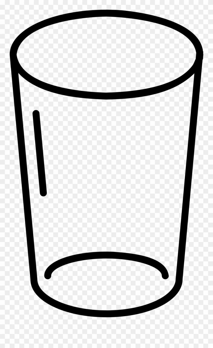 Empty Glass Coloring Page.