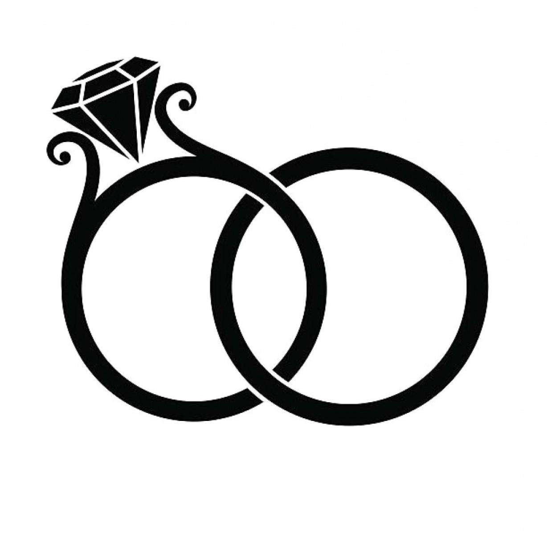 Diamond Ring Clipart Black And White Elegant Wedding Clip Art Vector.