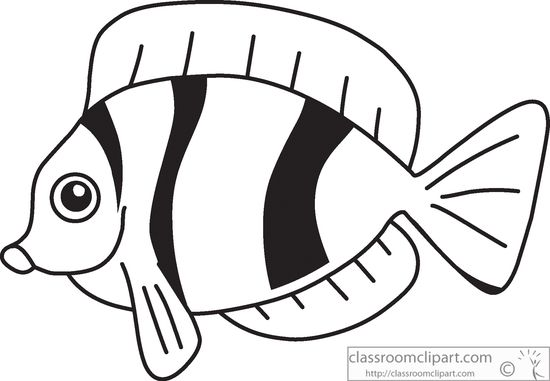 Fish Clipart Black And White & Fish Black And White Clip Art.