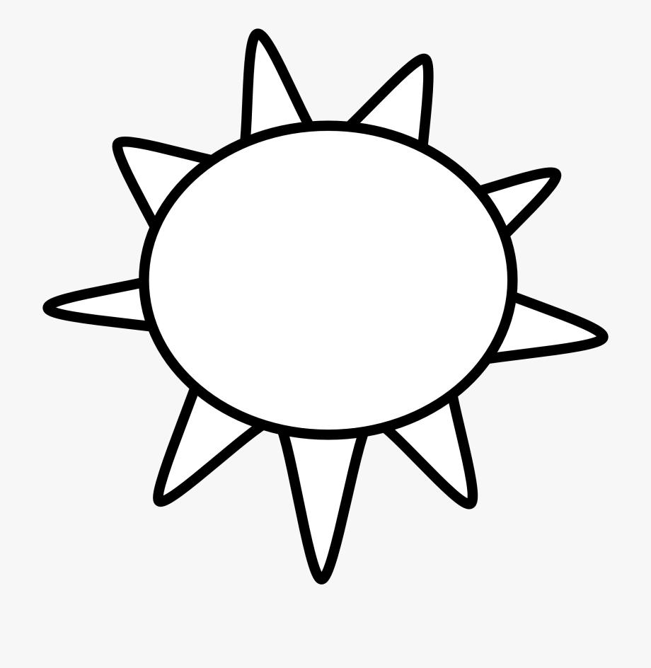 Sun Clip Art Black And White Sun Outline Black White.