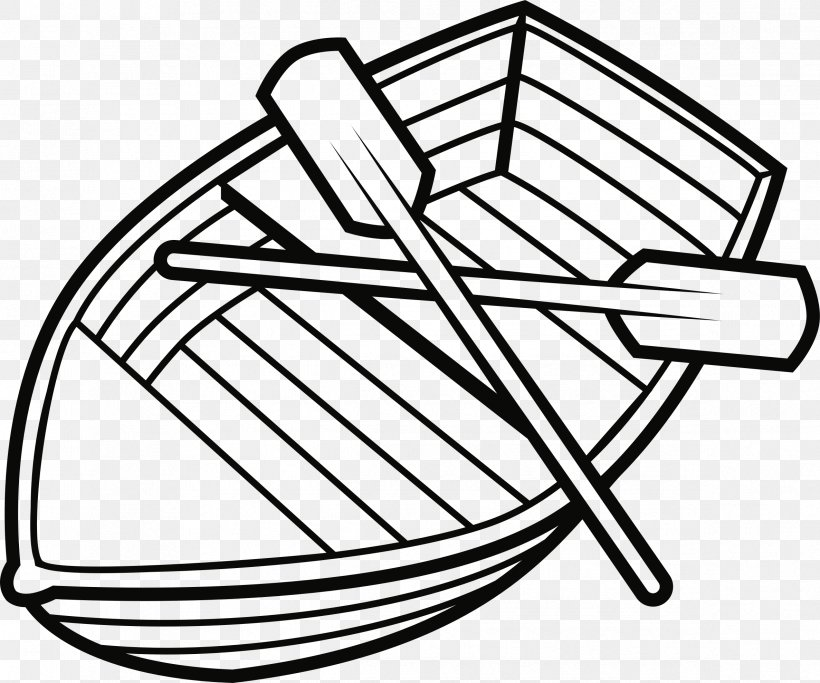 Black And White Boat Drawing Paddle Clip Art, PNG.