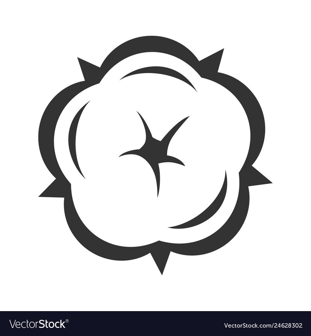 Cotton flower in blossom symbol floral design.