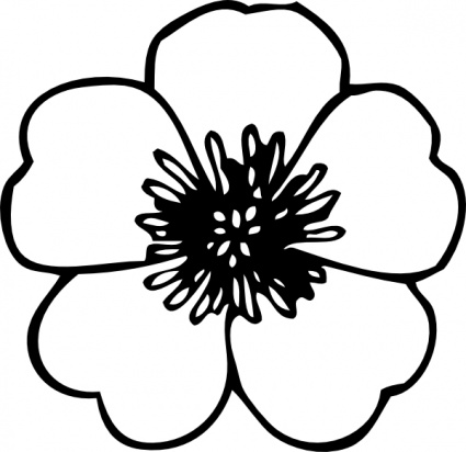 Free Black And White Cartoon Flowers, Download Free Clip Art.
