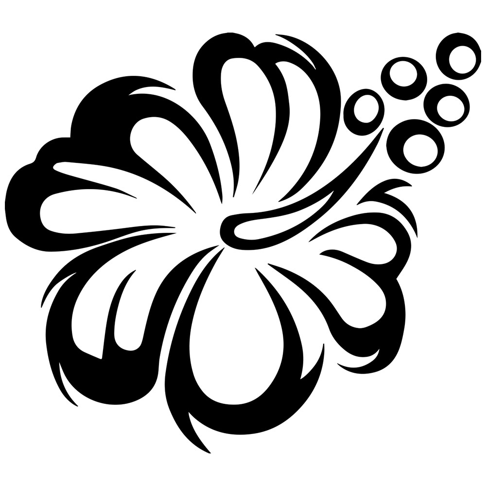 Flower black and white flower clipart black and white free.