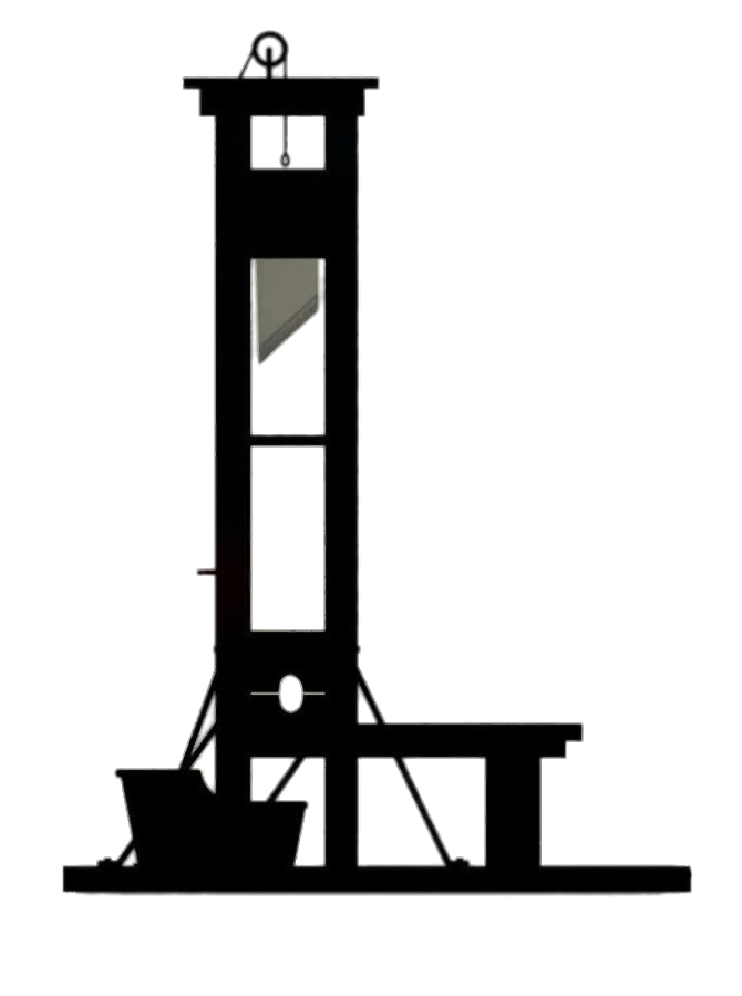 Guillotine Black and White transparent PNG.
