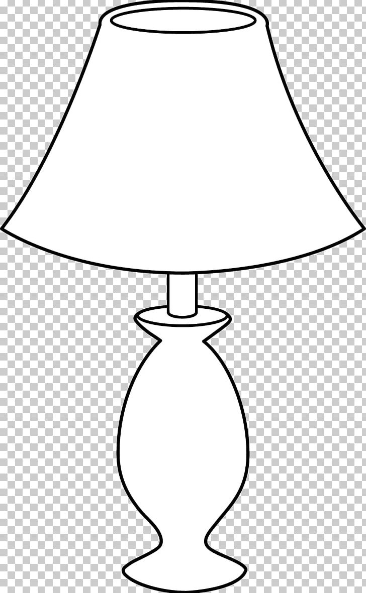 Table Lamp Black And White Incandescent Light Bulb PNG.