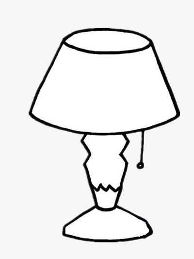 Lamp Clipart Black And White Png.