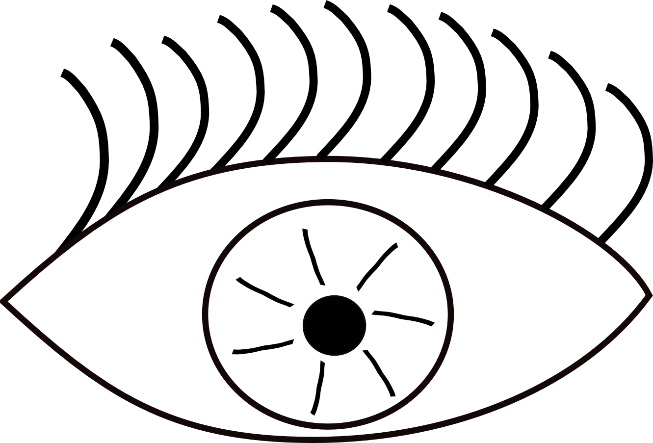 Eyeball eyes cartoon eye clip art free vector in open office.